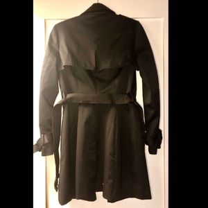 H&M black women's trench coat